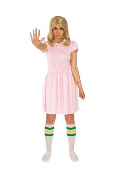Stranger Things Eleven Pink Dress Adult Costume