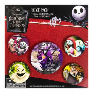 Nightmare Before Xmas Characters Badge Pack