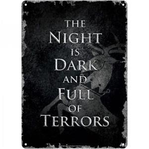 Tin Sign Small - Game Of Thrones (Night Dark)