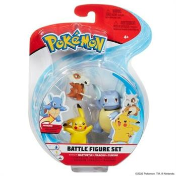 Pokemon Battle Fig - Wartortle, Pikachu & Cubone