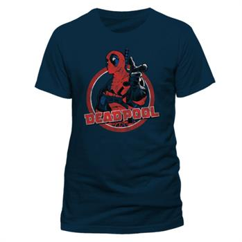DEADPOOL - LOGO POINT T-Shirt NAVY XXL