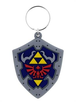 Legend of Zelda Hylian Shield Rubber Keychain