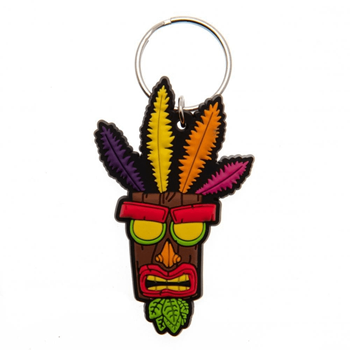 Crash Bandicoot (Aku Aku) Keychain