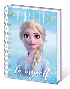 Frozen 2 (Sisters) A5 Metallic Notebook