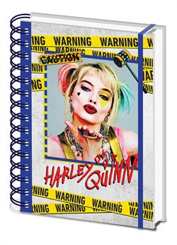 Birds Of Prey (Harley Quinn Warning) A5 Notebook
