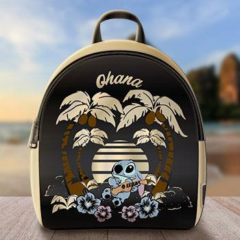 Loungefly: Lilo and Stitch Black Satin Backpack