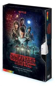 STRANGER THINGS (VHS) A5 PREMIUM NOTEBOOK