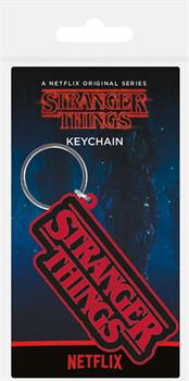 Stranger Things Logo Keyring