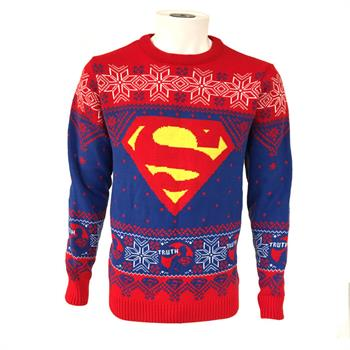 DC Superman - Logo (Truth) Xmas Jumper - Medium