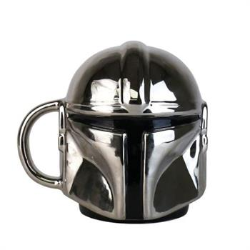 Star Wars Electroplated Mandalorian Shaped Mug