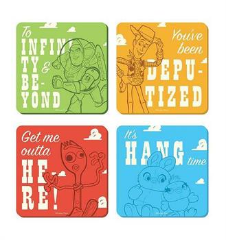 Toy Story Characters Coasters Set Of 4