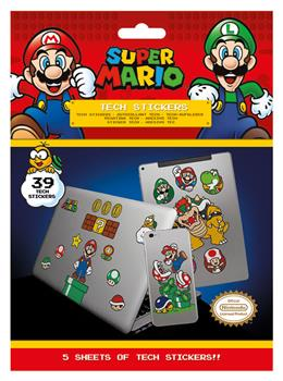 Super Mario (Mushroom Kingdom) Tech Stickers