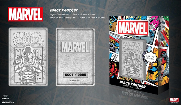 Limited Edition Marvel Ingot - Black Panther